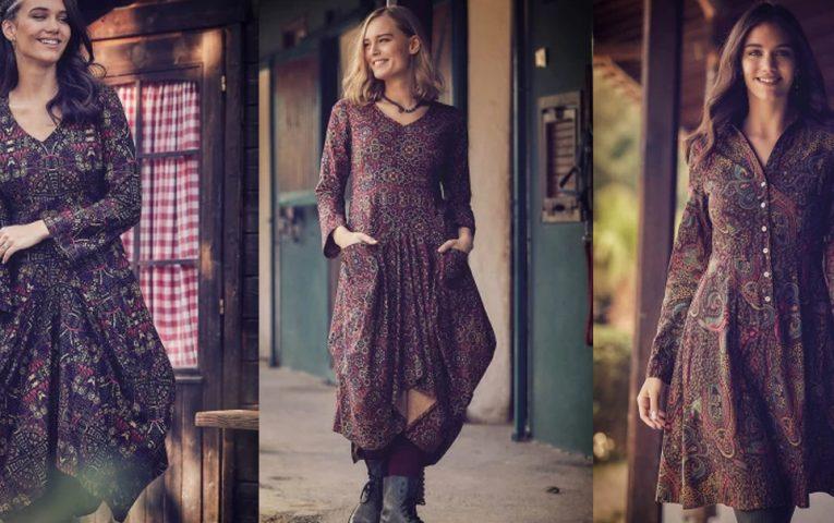 Bohem tarzı  dantelli elbiseler, gömlekler, etnik desenli elbiseler İda Butik mağazasında!